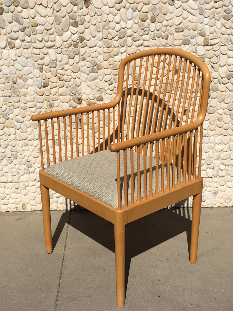 Late 20th Century Italian Modern Wood Chair by Stendig For Sale