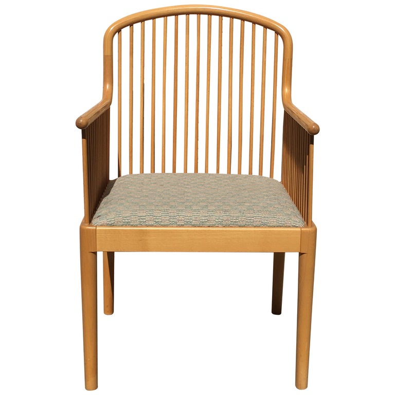 Italian Modern Wood Chair by Stendig For Sale