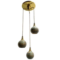 Italian Moderne Three-Pendant Light Fixture