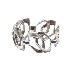 Italian Modernist 1960s Silver Bracelet