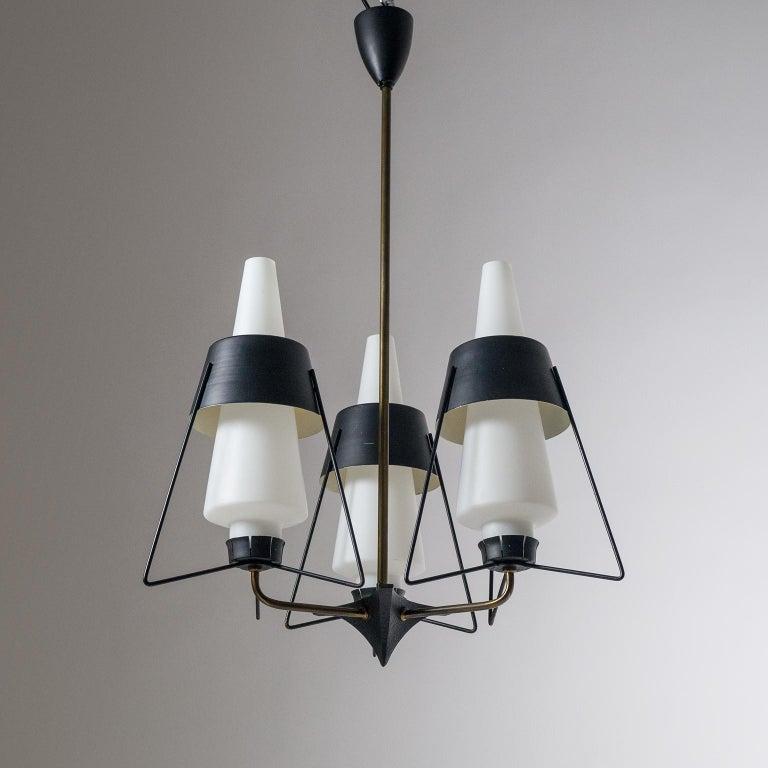 Italian Modernist Chandelier, 1950s For Sale 3
