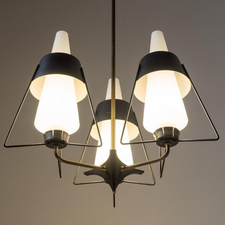 Italian Modernist Chandelier, 1950s For Sale 4