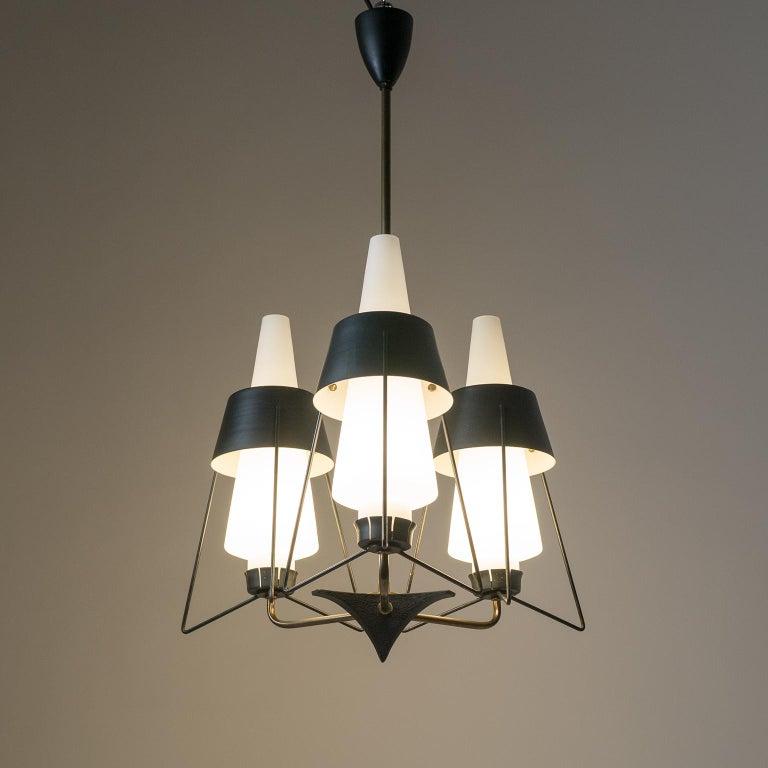 Italian Modernist Chandelier, 1950s For Sale 5