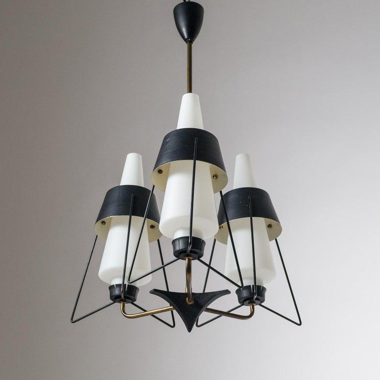Italian Modernist Chandelier, 1950s For Sale 6