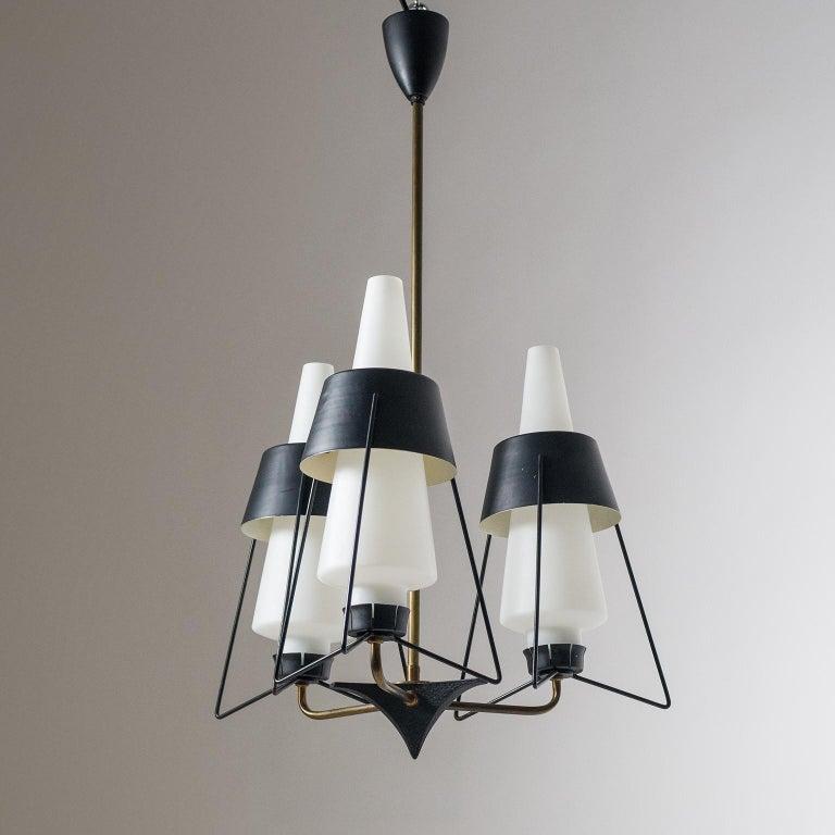 Italian Modernist Chandelier, 1950s For Sale 7
