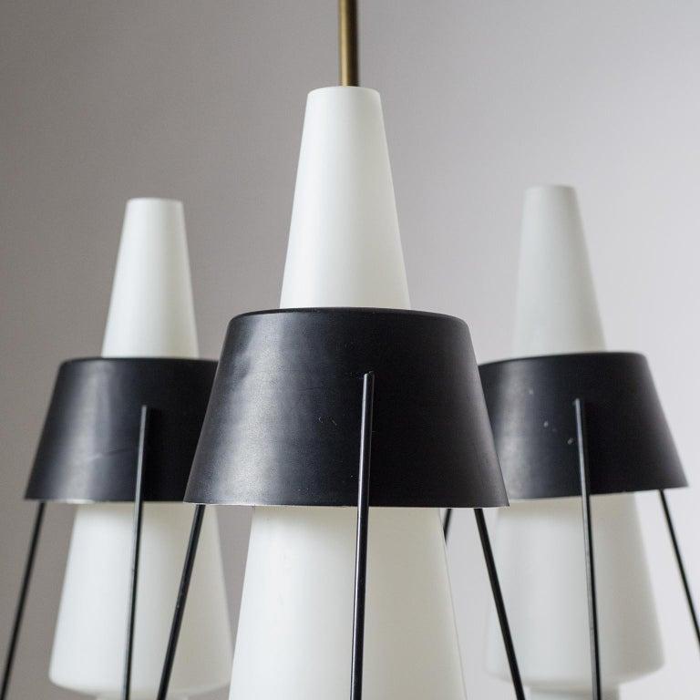 Italian Modernist Chandelier, 1950s For Sale 9