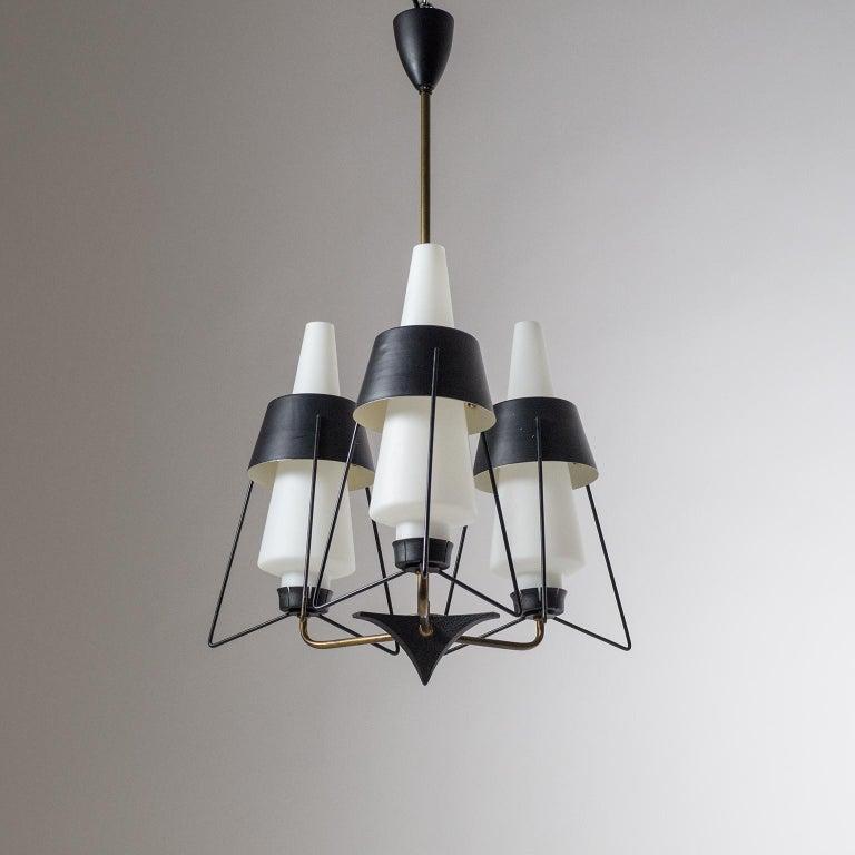 Italian Modernist Chandelier, 1950s For Sale 10
