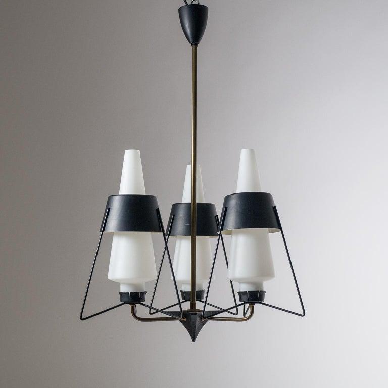 Italian Modernist Chandelier, 1950s For Sale 11