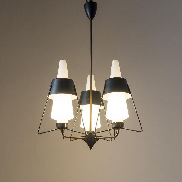 Italian Modernist Chandelier, 1950s For Sale 12