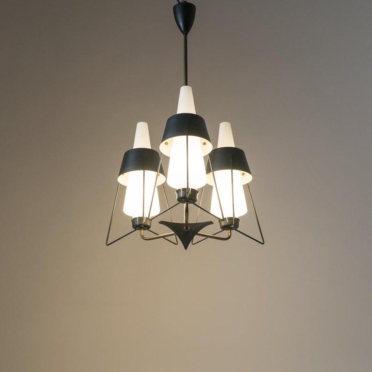 Italian Modernist Chandelier, 1950s For Sale 13