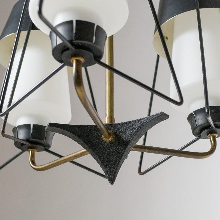 Mid-20th Century Italian Modernist Chandelier, 1950s For Sale