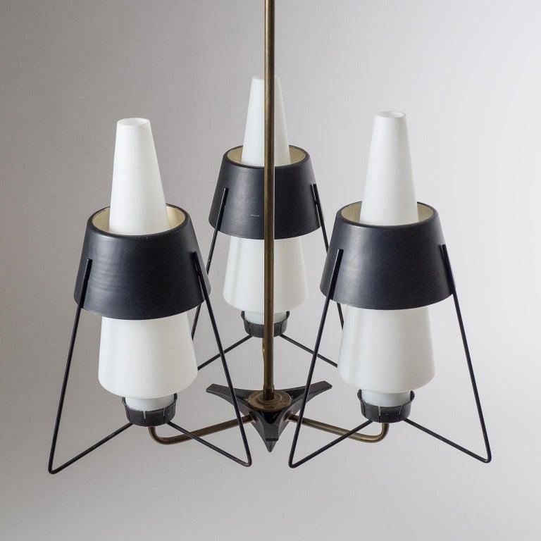 Italian Modernist Chandelier, 1950s For Sale 2