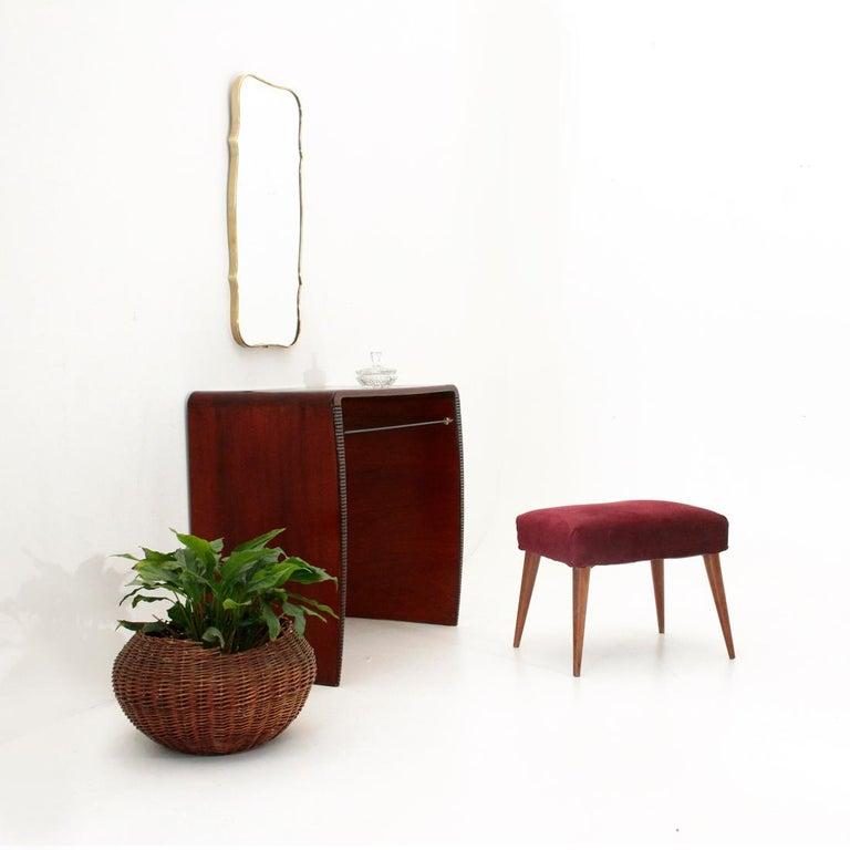 Italian Modernist Console Desk with Glass Shelf, 1940s For Sale 7