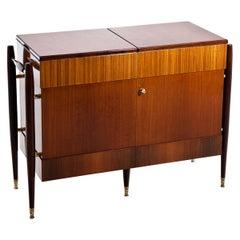 Italian Modernist Folding Bar Cabinet