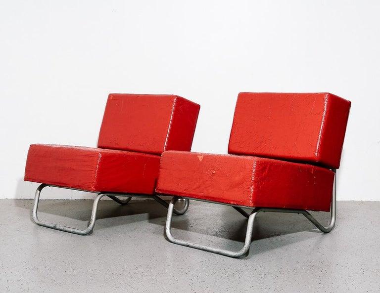 Mid-Century Modern Italian Modernist Lounge Chairs