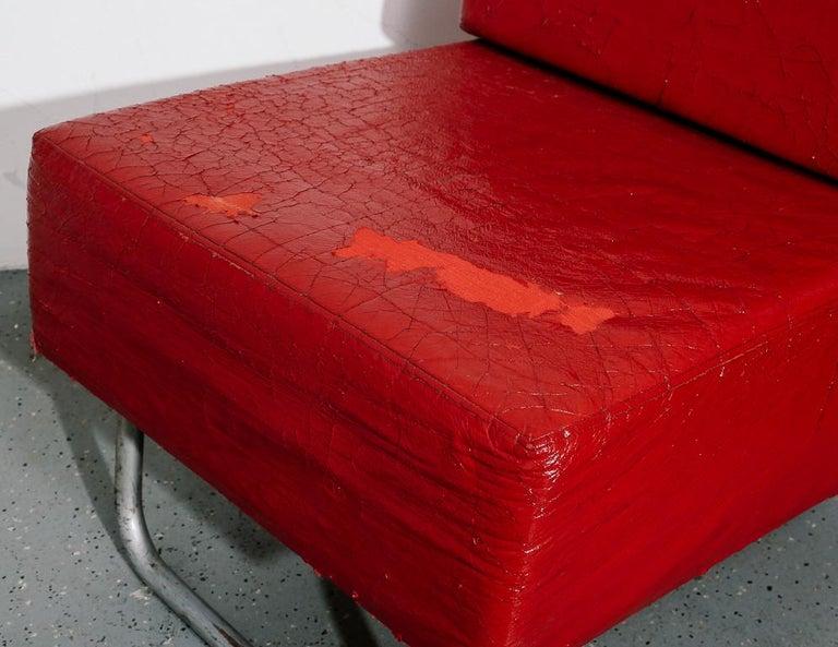 Steel Italian Modernist Lounge Chairs