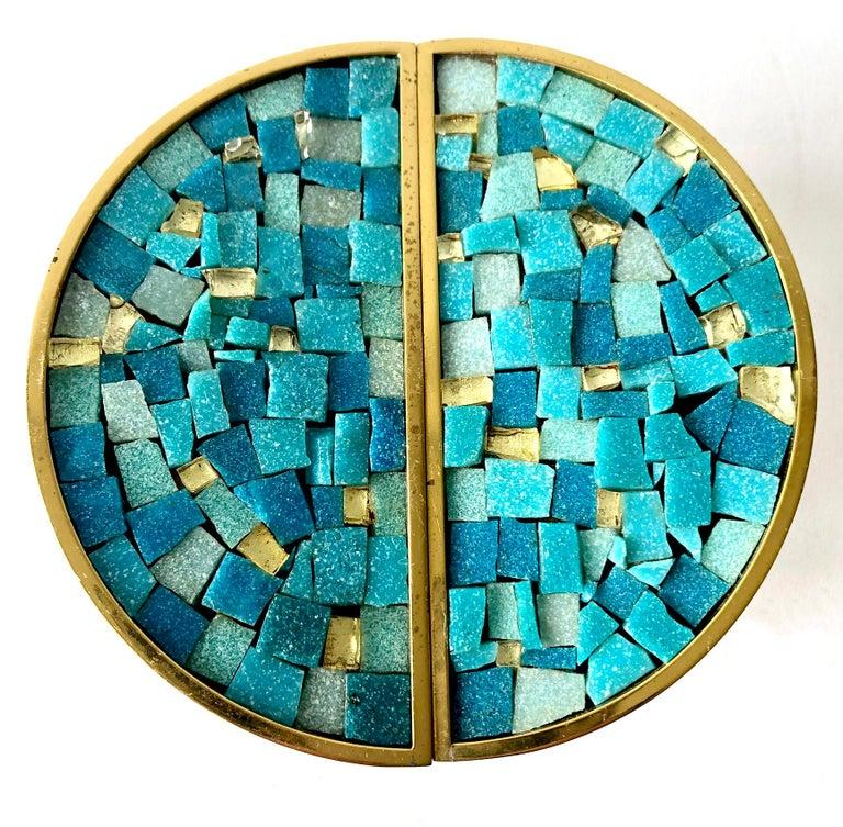 Italian glass mosaic tile door pulls measure 5