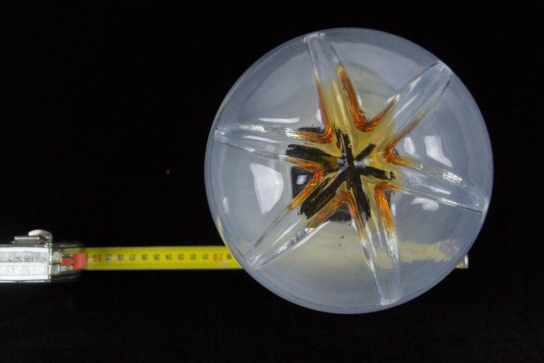 Italian Modernist Murano Art Glass Four-Light Cascade Chandelier, 1970s For Sale 11