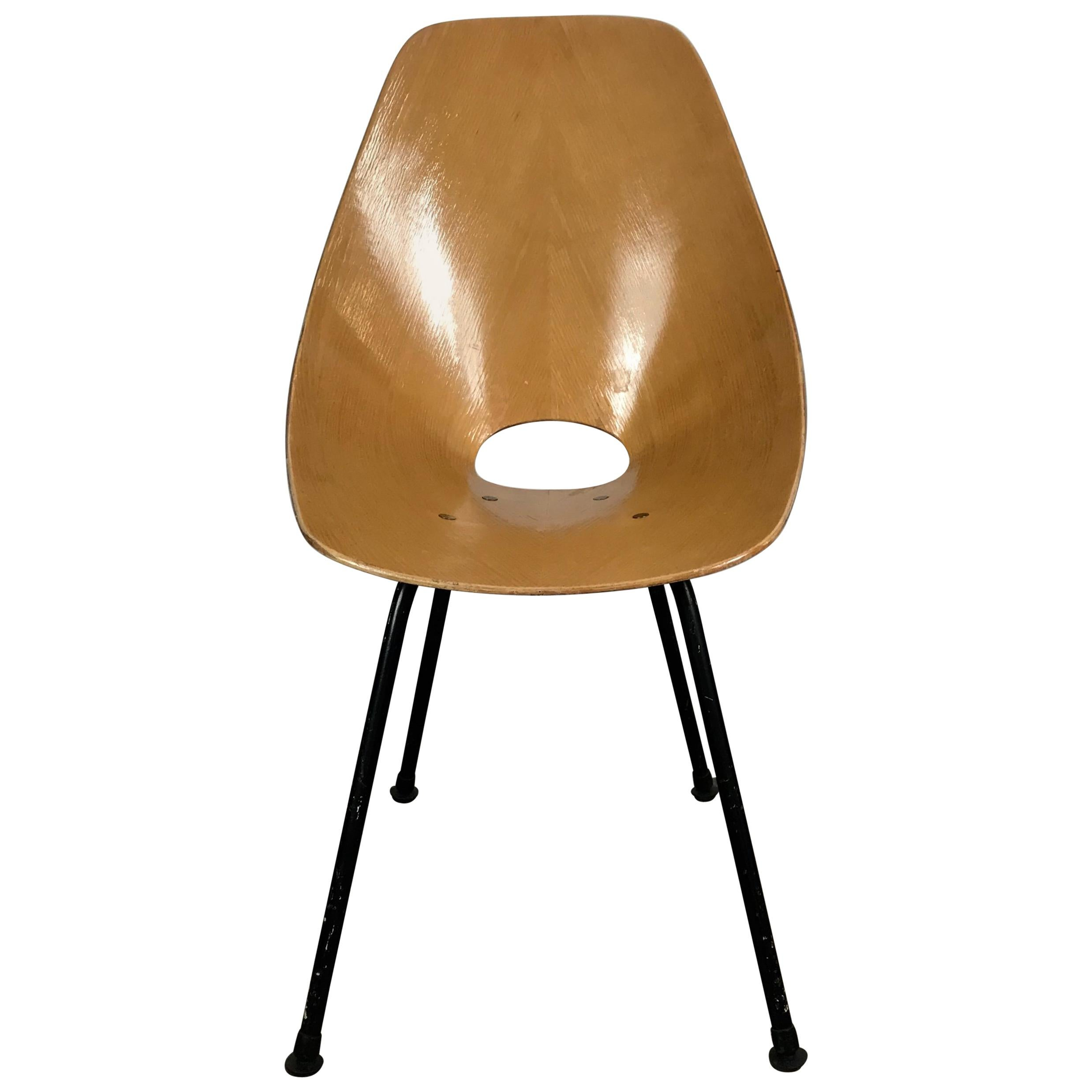 Italian Modernist Side Chair by Vittorio Nobili for Fratelli Tagliabue