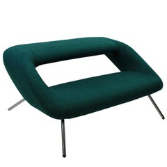 Italian Modernist Sofa in Emerald