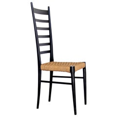Italian Modernist Chair in the Style of Gio Ponti