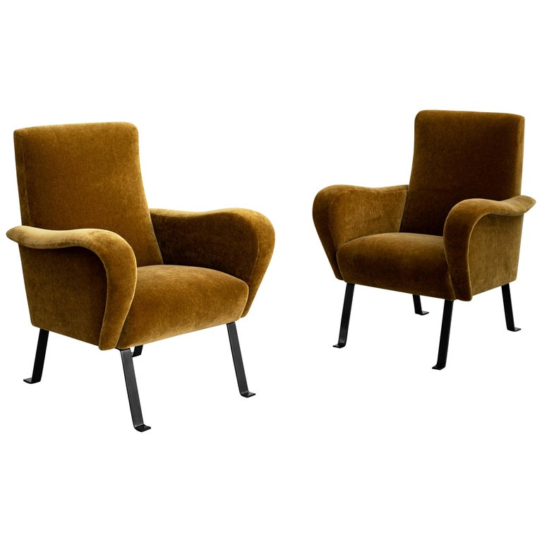Italian Mohair Chairs For Sale