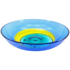 Italian Multicolor Murano Glass Bowl by Barbini