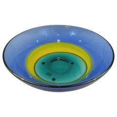 Italian Multi-Color Murano Glass Bowl by Barbini