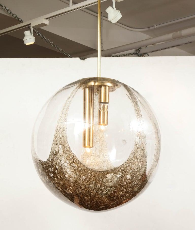 Italian Murano 1960s Blown Glass Globe Chandelier For Sale 4