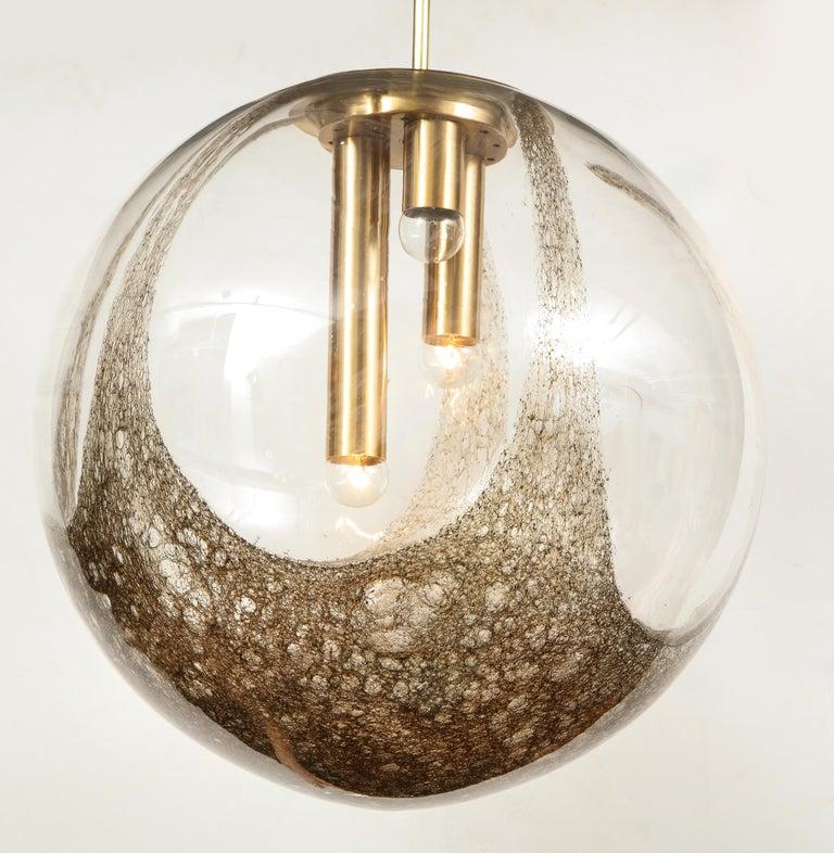 Mid-Century Modern Italian Murano 1960s Blown Glass Globe Chandelier For Sale