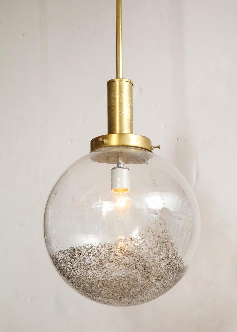 Mid-Century Modern Italian Murano 1960s Glass Globe Chandelier For Sale
