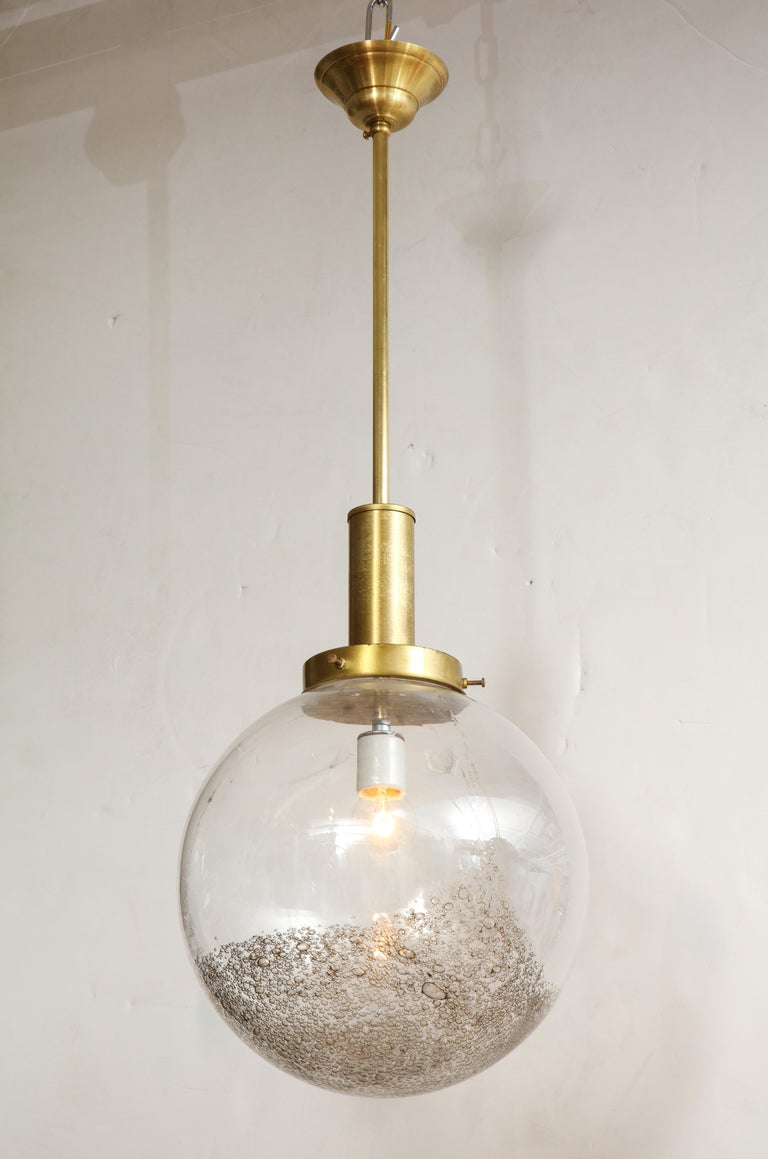 Mid-20th Century Italian Murano 1960s Glass Globe Chandelier For Sale