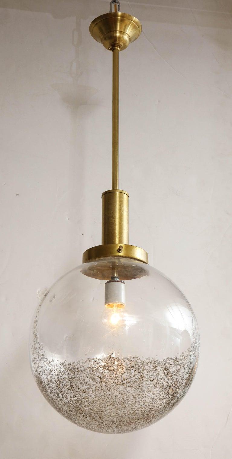Italian Murano 1960s Glass Globe Chandelier For Sale 1