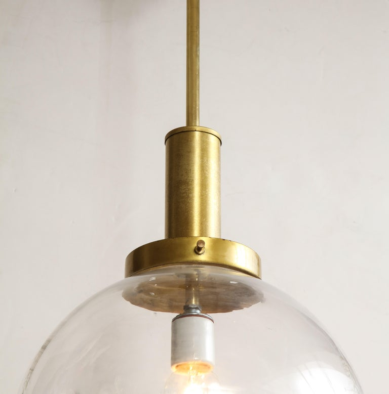Italian Murano 1960s Glass Globe Chandelier For Sale 2