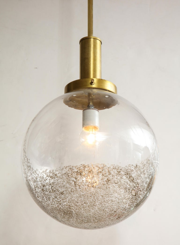 Italian Murano 1960s Glass Globe Chandelier For Sale 3