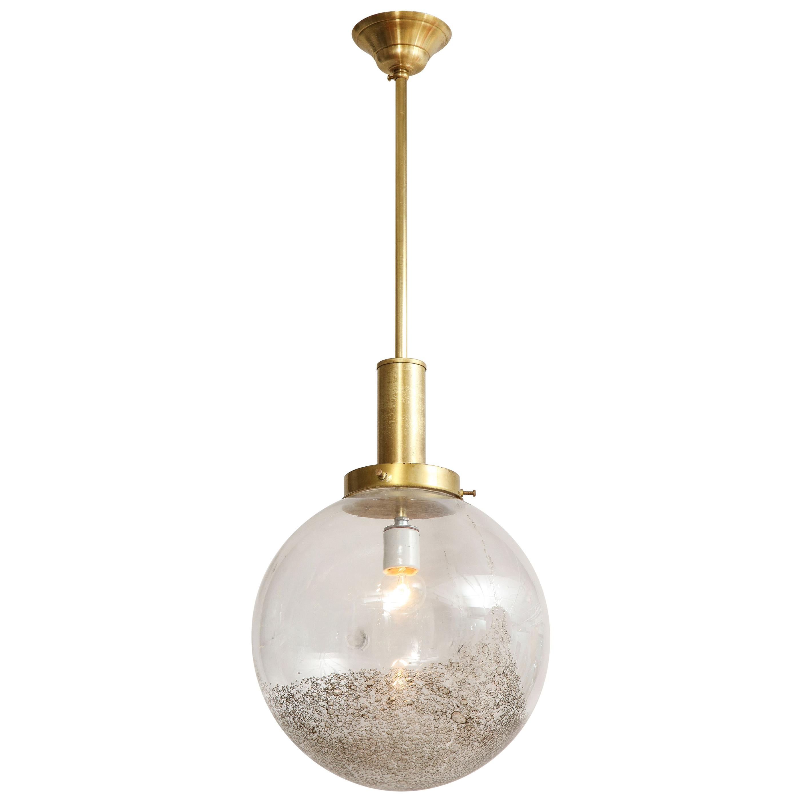 Italian Murano 1960s Glass Globe Chandelier