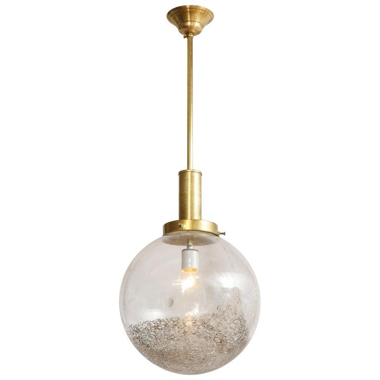 Italian Murano 1960s Glass Globe Chandelier For Sale