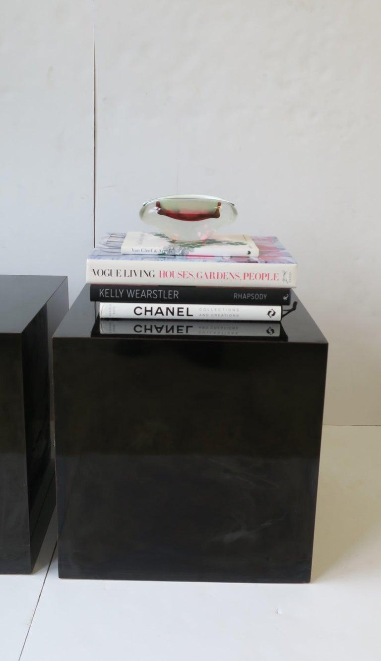 Italian Murano White and Pink Art Glass Bowl or Ashtray 5