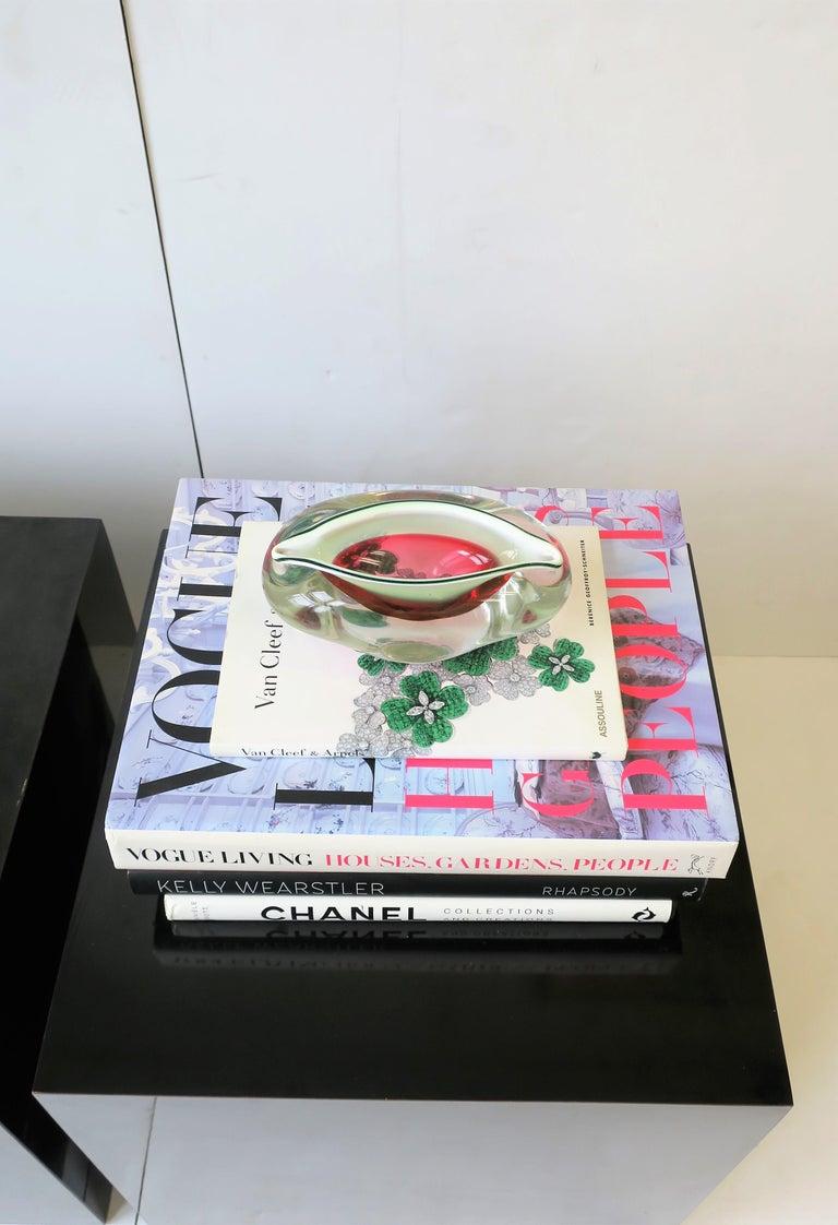 Italian Murano White and Pink Art Glass Bowl or Ashtray 6