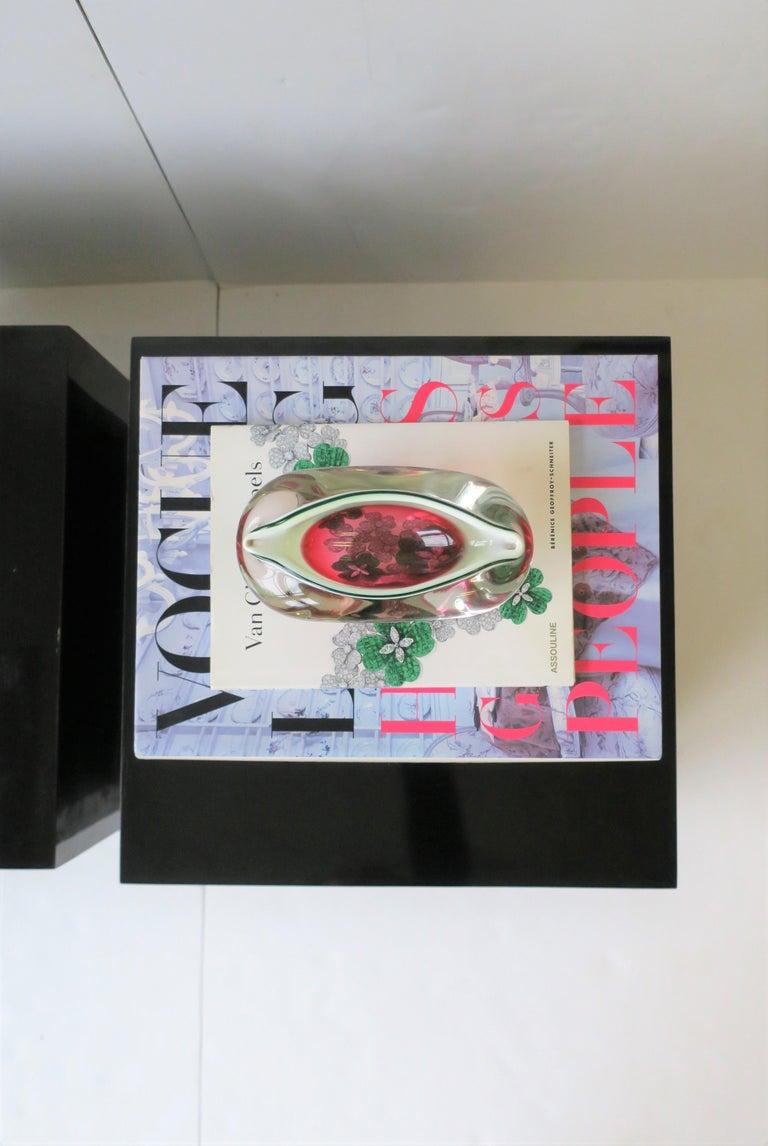 Italian Murano White and Pink Art Glass Bowl or Ashtray 7