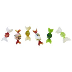 Italian Murano Art Glass Candy Pieces