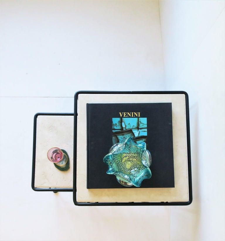Italian Murano Blue Art Glass Bowl 5
