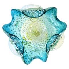 Italian Murano Blue Art Glass Bowl