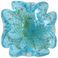 Italian Murano Blue Art Glass Bowl