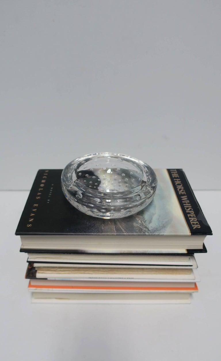 Italian Murano Clear Art Glass Bowl For Sale 1