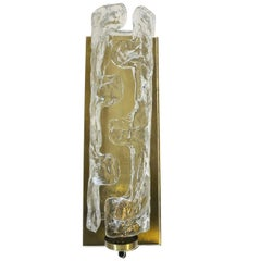 Italian Murano Cylinder Glass Sconces by Mazzega