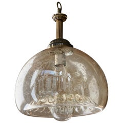 Italian Murano Glass and Brass Pendant Light