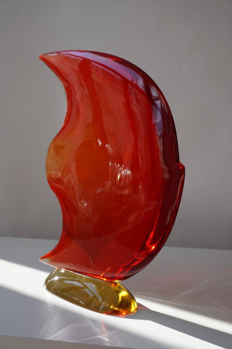 Italian Murano Glass Art Fish Sculpture For Sale 7