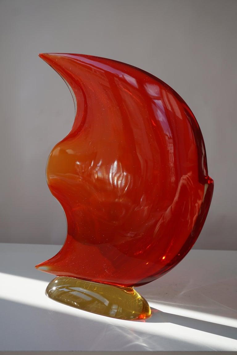 Italian Murano Glass Art Fish Sculpture For Sale 8