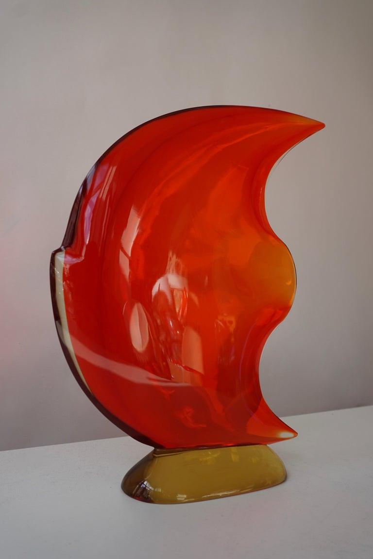 Italian Murano Glass Art Fish Sculpture For Sale 11